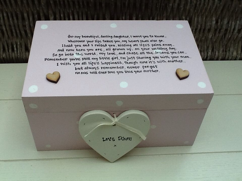 Personalised Chic Daughter On Her Wedding Day From Mother Of Bride Gift